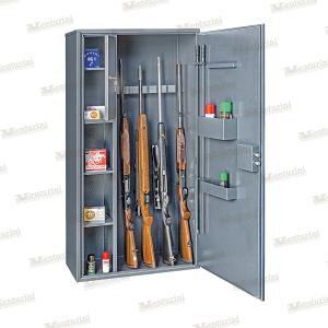 Armadio blindato Venturini per 8/9 fucili con tesoretto