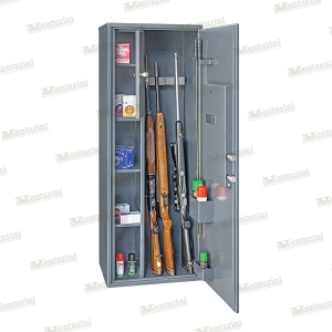 Armadio blindato Venturini per 8/9 fucili con tesoretto e serratura elettronica