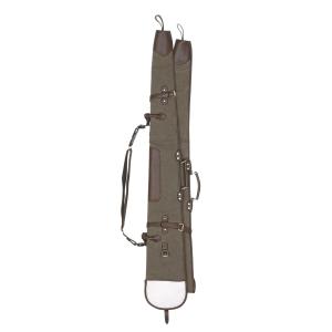 Fodero doppio separabile per fucile Venturini in Canvas con interno in agnello sintetico, finiture in pelle e tracolla regolabile amovibile