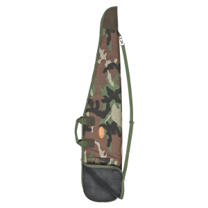 Fodero per carabina Venturini in poliestere mimetico verde con tasca, tracolla regolabile amovibile e maniglia