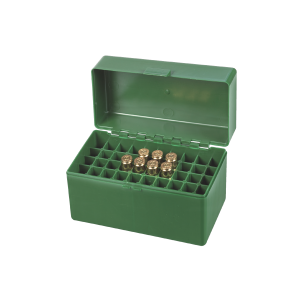 Scatola porta munizioni per carabina Venturini in plastica (50 pallottole cal. 30.06)