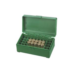 Scatola porta munizioni per pistola Venturini in plastica (50 pallottole cal. 38 - 357)