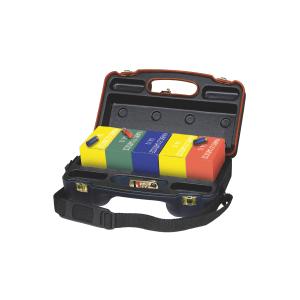 Valigetta porta cartucce Venturini in ABS termoformata con tracolla e per trasporto aereo (5 scatole x 25 cartucce cal. 12)