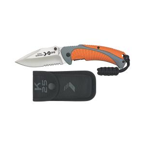 Coltello pieghevole da tasca Rui K25 Energy grigio/arancio con lama a filo combinato in acciaio inox