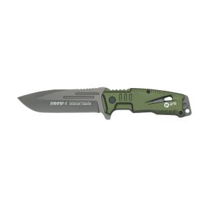 Coltello a lama fissa Rui K25 Drow I verde con lama in acciaio inox rivestita in titanio