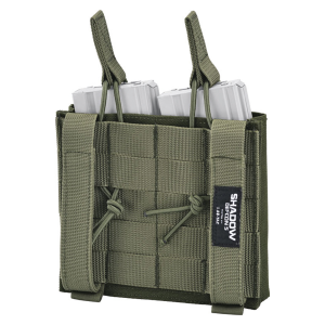 Taschina porta caricatore doppio per fucile d'assalto Defcon 5 Shadow M4 Verde