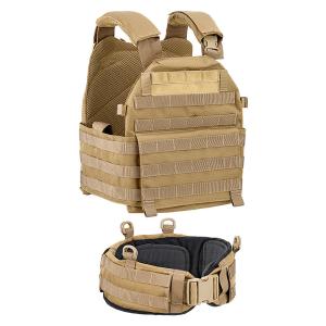 Gilet tattico Defcon 5 porta placche con cinturone - Coyote Tan