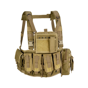 Gilet tattico Defcon 5 Recon Chest Rig o porta placche - Coyote Tan
