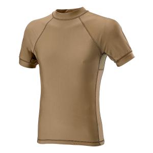 T-Shirt a maniche corte Defcon 5 in Lycra + Mesh - Coyote Tan