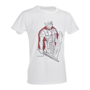 T-Shirt D. Five con centurione romano - Bianco