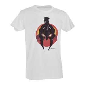 T-Shirt D. Five con elmo Spartano - Bianco