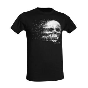 T-Shirt D. Five con teschio - Nero
