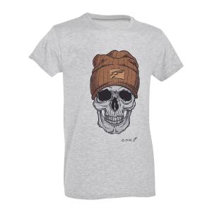 T-Shirt D. Five con teschio Urban - Grigio Erica