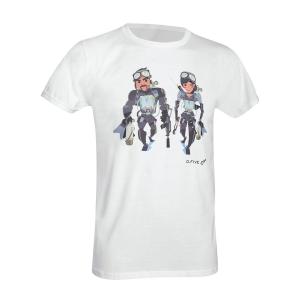 T-Shirt D. Five con Navy Seals - Bianco