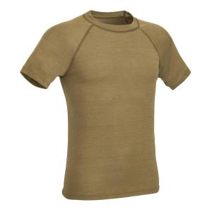 T-Shirt invernale Defcon 5 in lana merino - Marrone Coyote