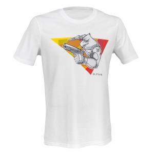 T-Shirt Premium D. Five in cotone organico con aquila d'assalto - Bianco